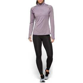 asics Thermopolis LS Half-Zip Shirt Women lavender grey